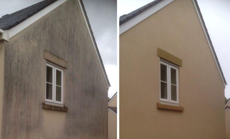 avant-apres nettoyage façade